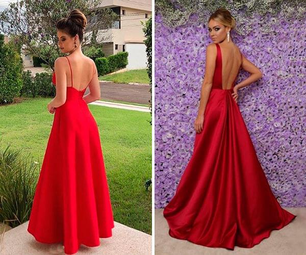 Vestido de Noivado Vermelho