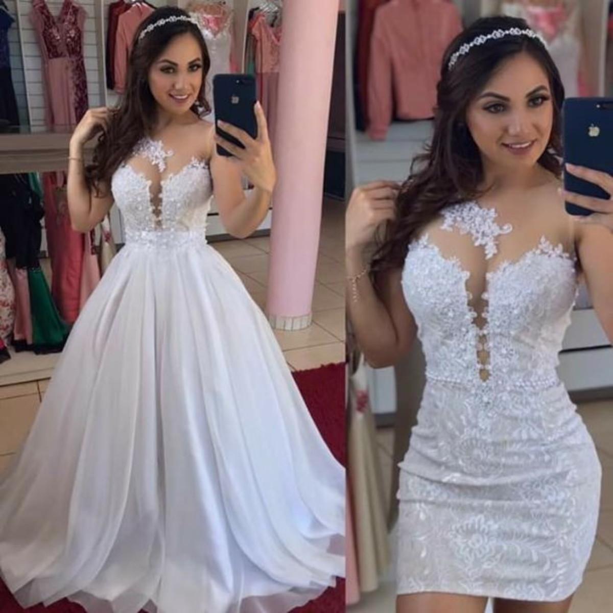 Vestido de noiva 2 em 1
