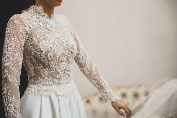 Tecido para vestido de noiva