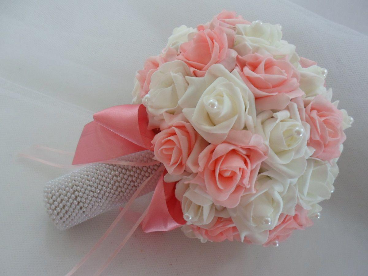 Buque de noiva rosa