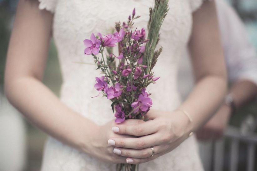 Buquê de noiva simples